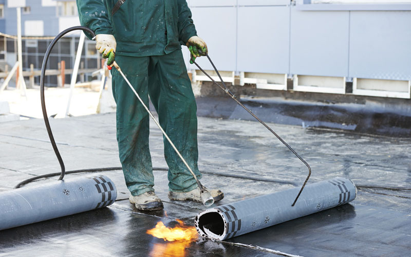 torch applied flat roofing