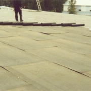 flat tar roofing