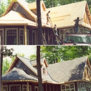 new shingle roof, new build
