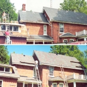 victorian home shingles, chimney removal