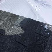 Winter Ice Damage repaired shingles