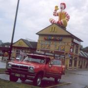 McDonalds roof top balloon installation